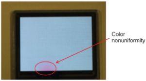 OLED screen color variation