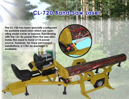 CL-720 Portable Band Saw Laser