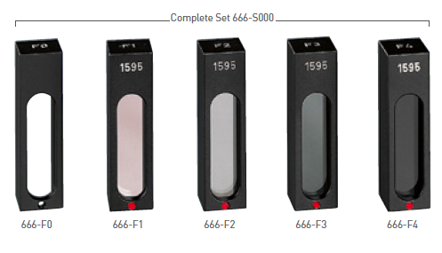 GLASS FILTERS WITH DAKKS CERTIFICATE 666-S005