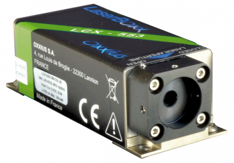 LCX-553L-100-CSB: 553nm Low Noise DPSS Laser