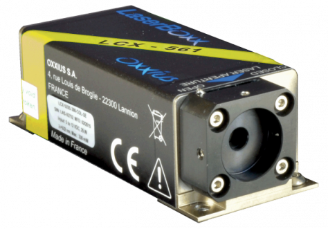 LCX-561L-150-CSB: 561nm Low Noise DPSS Laser