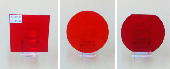 Optical Color Glass Filter Red color filter RG600nm