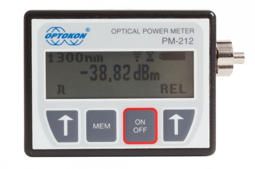 PM-212  Pocket Optical Power Meter - USB Probe