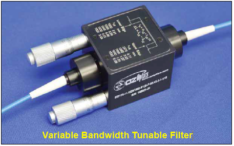 Variable Bandwidth Tunable Filter BTF-11-11-1525/1570-9/125-S-40-3S3S-1-1-1/18
