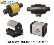 1053nm High Power Free Space 8mm Faraday Optical Isolator CSRAYZER_HIO-8-1053-HP-66x60x60-SD