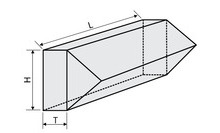 14RPR-1-1 - Right-Angle Retroreflector Prisms