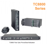 TC8800E Telephone Analog And Data Fiber Optic Multiplexer